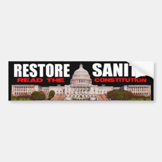 Tea Party - Restore Sanity Bumper Sticker