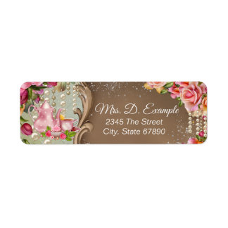Tea Party Return Address Labels