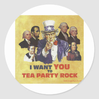 TEA PARTY ROCK TIME STICKERS