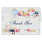 Tea Party Roses Teacups Teapot Thank You Card