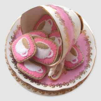 Tea Party! Round Sticker