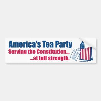 Tea Party Serving the Constitution Bumper Sticker
