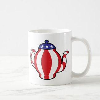 Tea Party Symbol 3D look Basic White Mug
