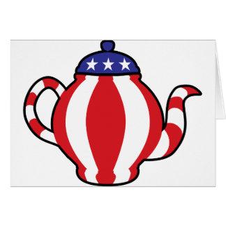 Tea Party Symbol 3D look Greeting Card