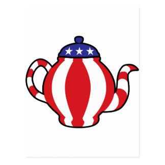 Tea Party Symbol 3D look Postcard
