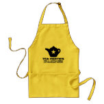 tea party - tea parties are for little girls apron