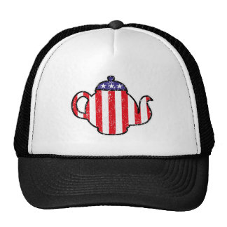 Tea Party Teapot Distressed Logo Cap