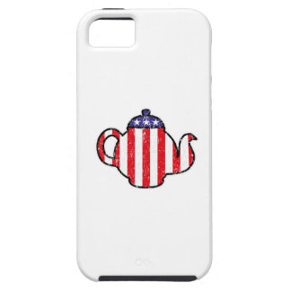 Tea Party Teapot Distressed Logo Cover For iPhone 5/5S