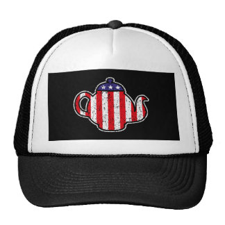 Tea Party Teapot Distressed Logo Hat