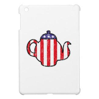 Tea Party Teapot Distressed Logo iPad Mini Cases