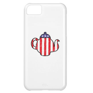 Tea Party Teapot Distressed Logo iPhone 5C Cover
