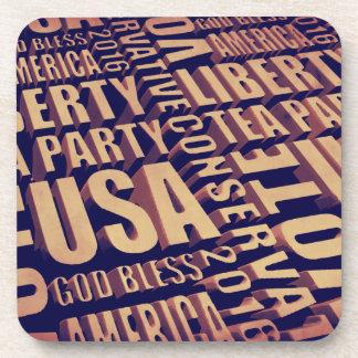 Tea Party Text Drink Coaster