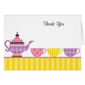 Tea Party Thank You Note Cards