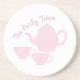 Tea Party Time Beverage Coasters