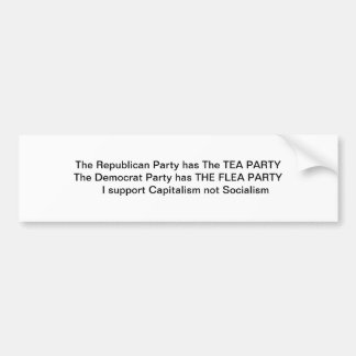 Tea Party vs Flea Party Bumper Sticker