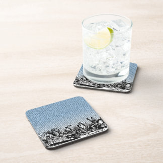 Tea Party with Text Beverage Coaster