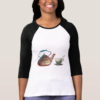 Tea Pot and Tea Cup Art T-Shirt