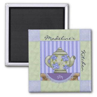 Tea Pot Quilt Block Fridge Magnet