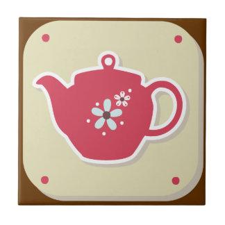 Tea Pot Retro - Kitchen Set - Trivet Tiles