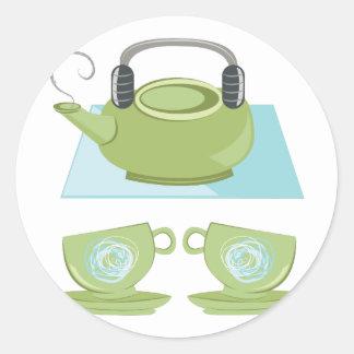 Tea Pot Round Sticker