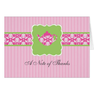 Tea Pot Thank You Note Card