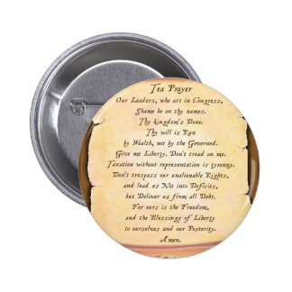 Tea Prayer Pinback Buttons