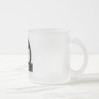 Tea-Rex Frosted Glass Coffee Mug