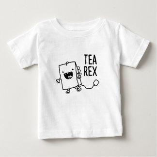 Tea Rex Tea Bag Funny Pun Cartoon Baby T-Shirt