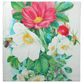 tea rose art napkin