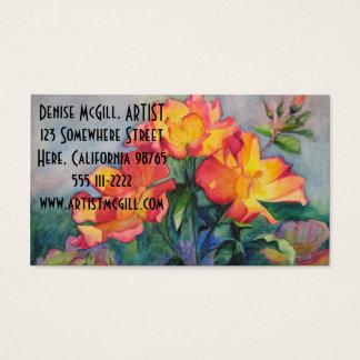 Tea Rose Business Cards