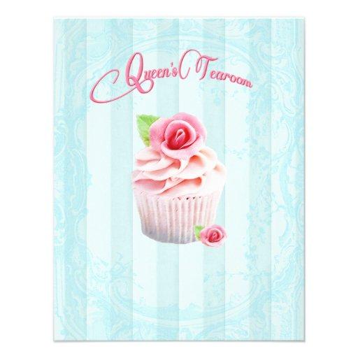 Tea Rose Cupcakes Invitations