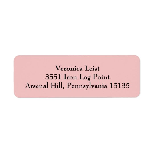 Tea Rose Pink Simple Plain Return Address Labels