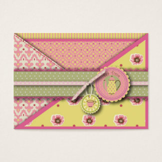 Tea Service Gift Tag Business Card