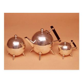Tea service with gilt interiors postcard
