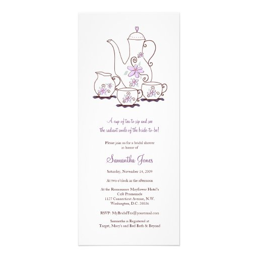 Tea Set Bridal Shower Invitations