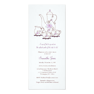 Tea Set Bridal Shower Invitations