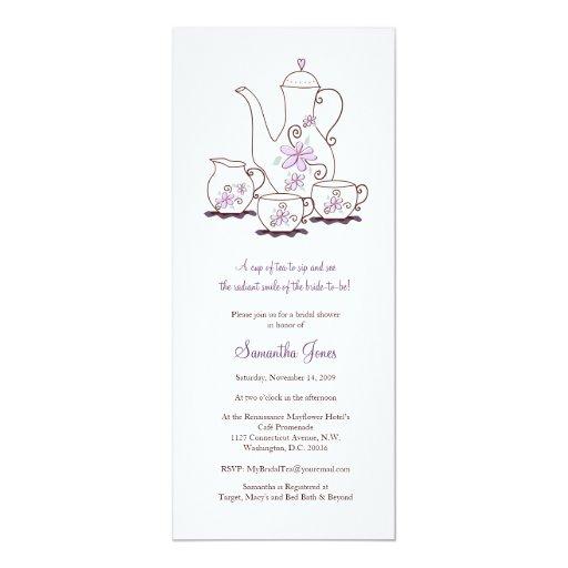 Tea Set Bridal Shower Invitations 10 Cm X 24 Cm Invitation Card
