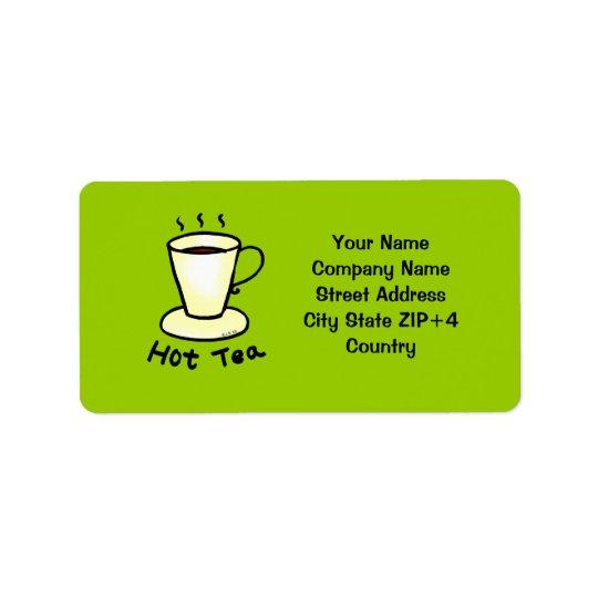 Tea shop return address address label