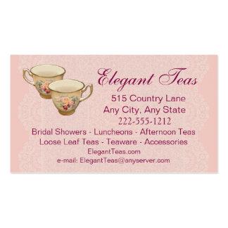Tea Shoppe Tea House Card optional Loyalty Punch Business Cards
