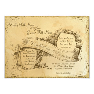 Tea Stained Vintage Wedding 1 - Invitation Invite