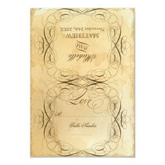 Tea Stained Vintage Wedding 1 - RSVP Response Card Invites