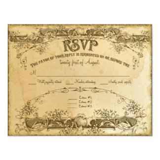 Tea Stained Vintage Wedding 2 - Invitation Invite