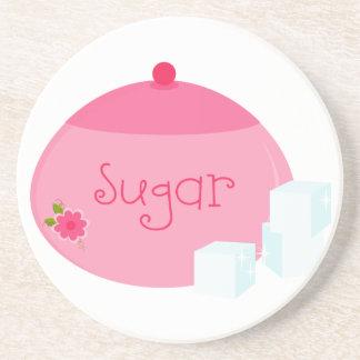 Tea Sugar Bowl Sandstone Coaster