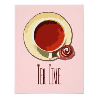 Tea Time 11 Cm X 14 Cm Invitation Card