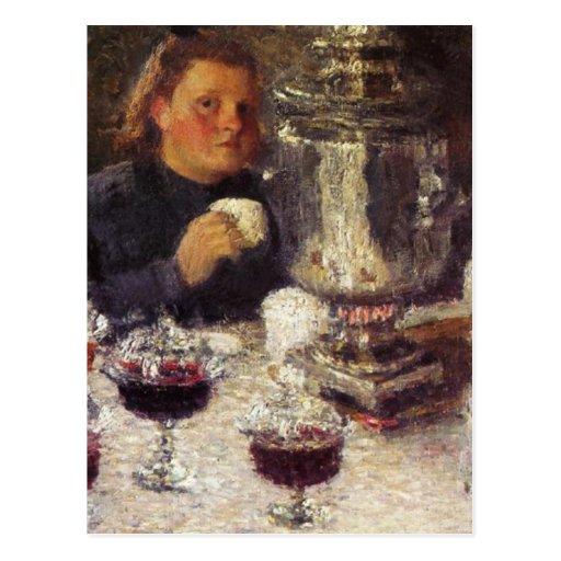 Tea Time: A Samovar by Igor Grabar Postcard