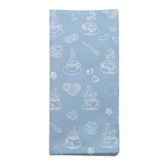 Tea time airy blue napkin