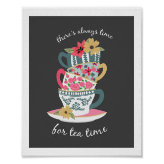 Tea Time Art Print by Origami Prints