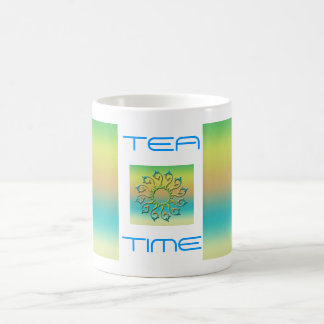 """Tea time "" Basic White Mug"