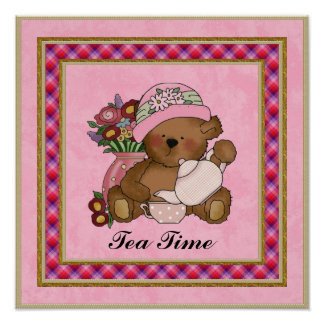 Tea Time Bear poster