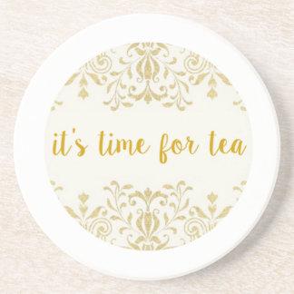 Tea Time Beverage Coaster